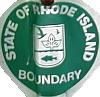 Rhode Island Department of Environmental Management boundary sign
